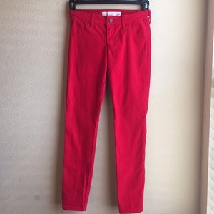 Abercrombie & Fitch Red Skinny Leg Pant